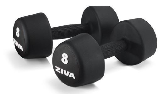 Rubber Tribell Studio Dumbbell 1-10 kg Set
