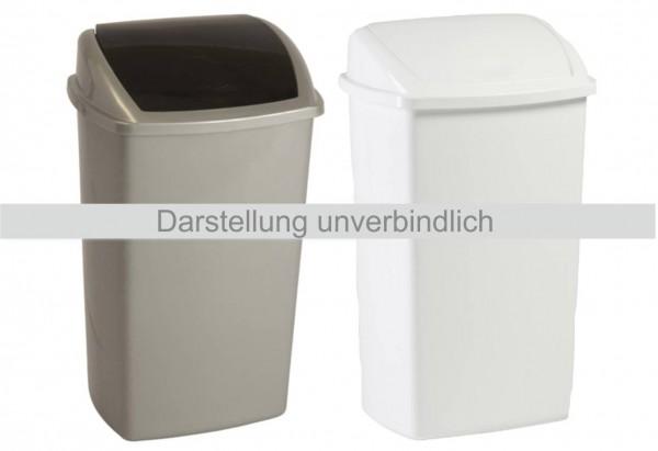 Schwingdeckeleimer Abfallbehälter 50 L Weiß