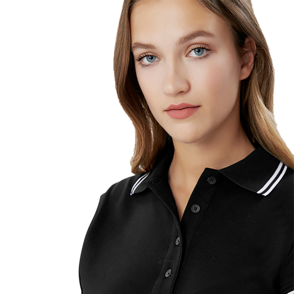 Damen-Poloshirt Twin-Stripe H205