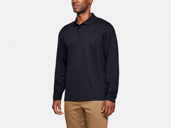 Under Armour Langarm Polo (schwarz)