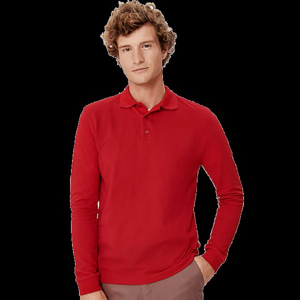 Herren Longsleeve-Poloshirt Performance H815