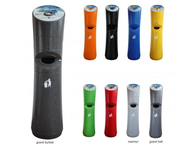 Kunststoffstandspender für Desinfektionstücher