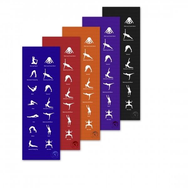 Yogamatte mit Anleitung