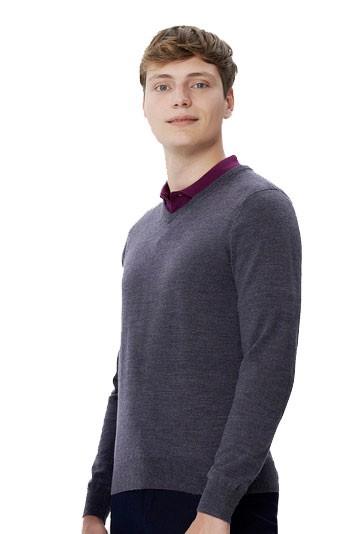 V-Pullover Merino Wool