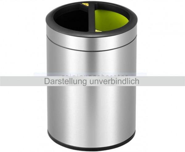 Mülltrennsystem Open Top Edelstahl 2 x 5 L