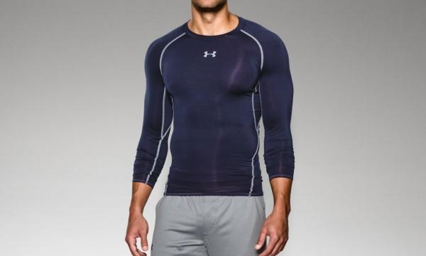 Herren Kompressions-Shirt UA HeatGear® Armour langärmlig