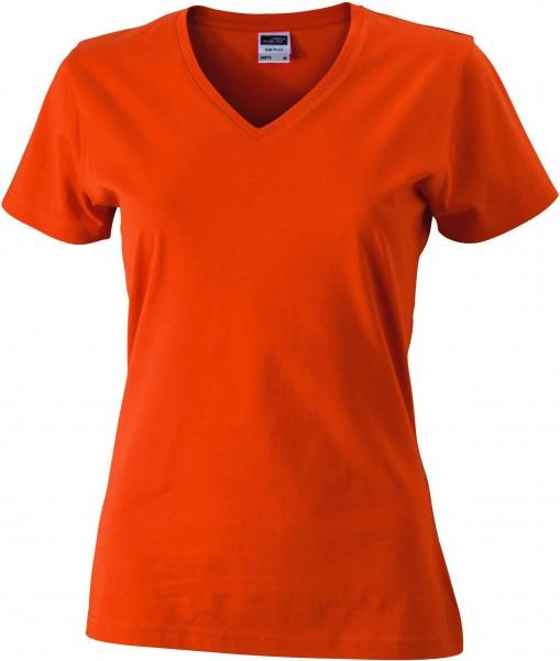 Ladies Slim Fit V-Shirt JN972