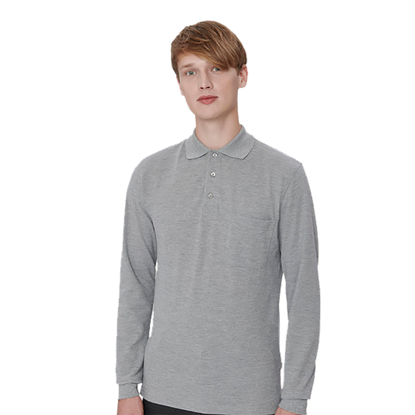 Herrren Longsleeve-Pocket-Poloshirt Top H809
