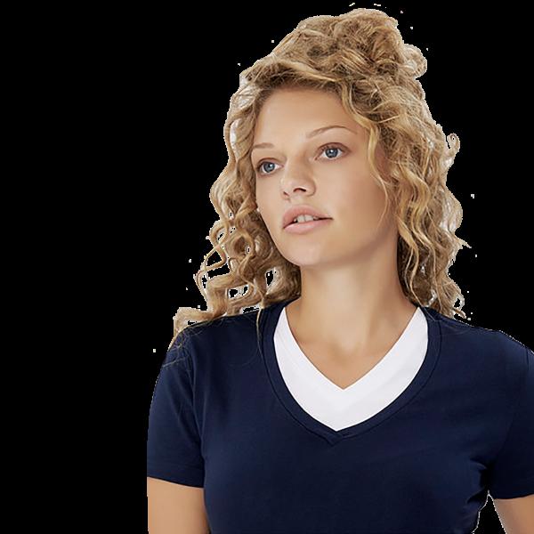 Damen-V-Shirt Stretch H172